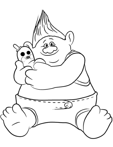 Biggie Mr Dinlkes From Trolls Coloring Page Poppy Coloring Page Cartoon Coloring Pages Cute Coloring Pages