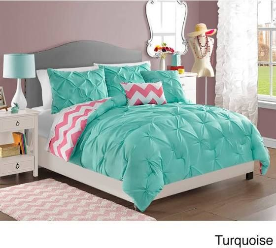 Coral Grey and White Chevron Duvet Cover Bedding