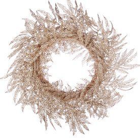 Champagne lace leaf wreath, $31. I don't know how I feel about this, but my curiosity is piqued. It's different.