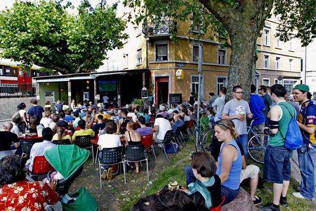 Stets gut besucht: Das Piccolo Giardino an der Schöneggstrasse.