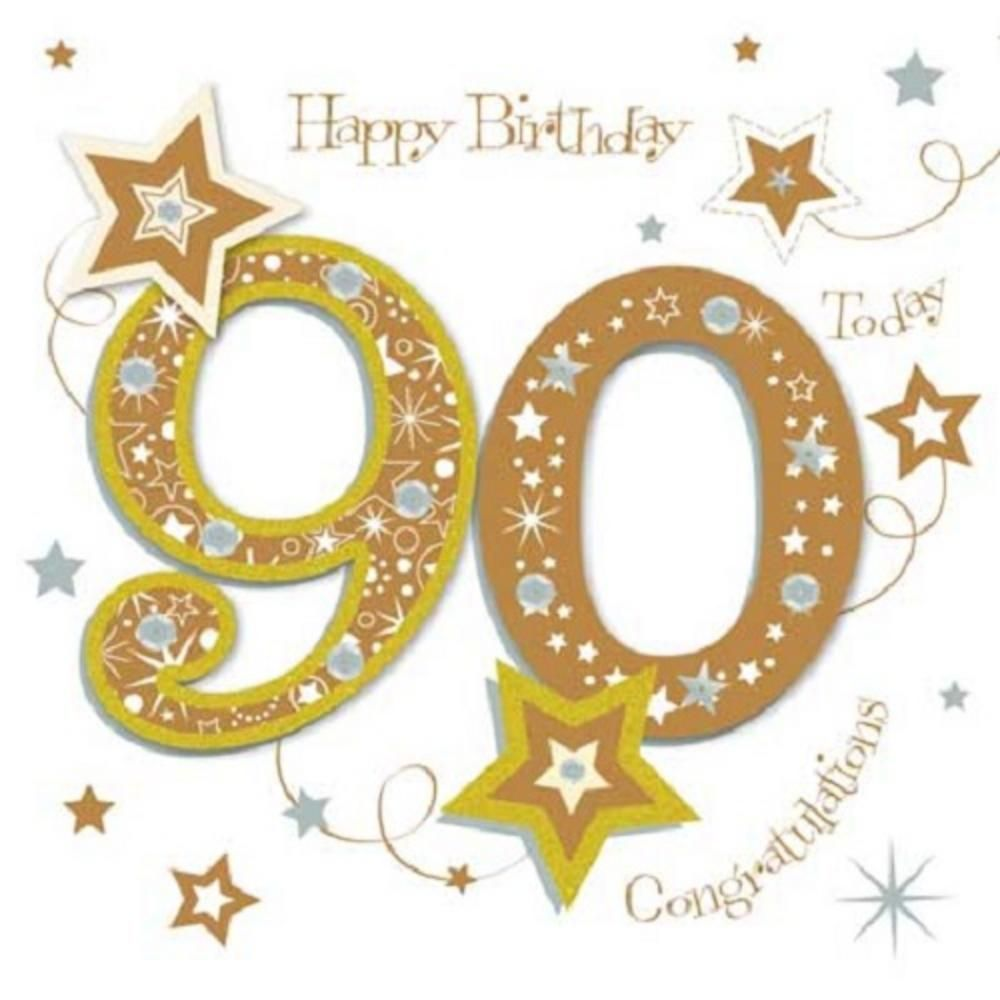 90th Birthday Cards Happy Parties Greetings