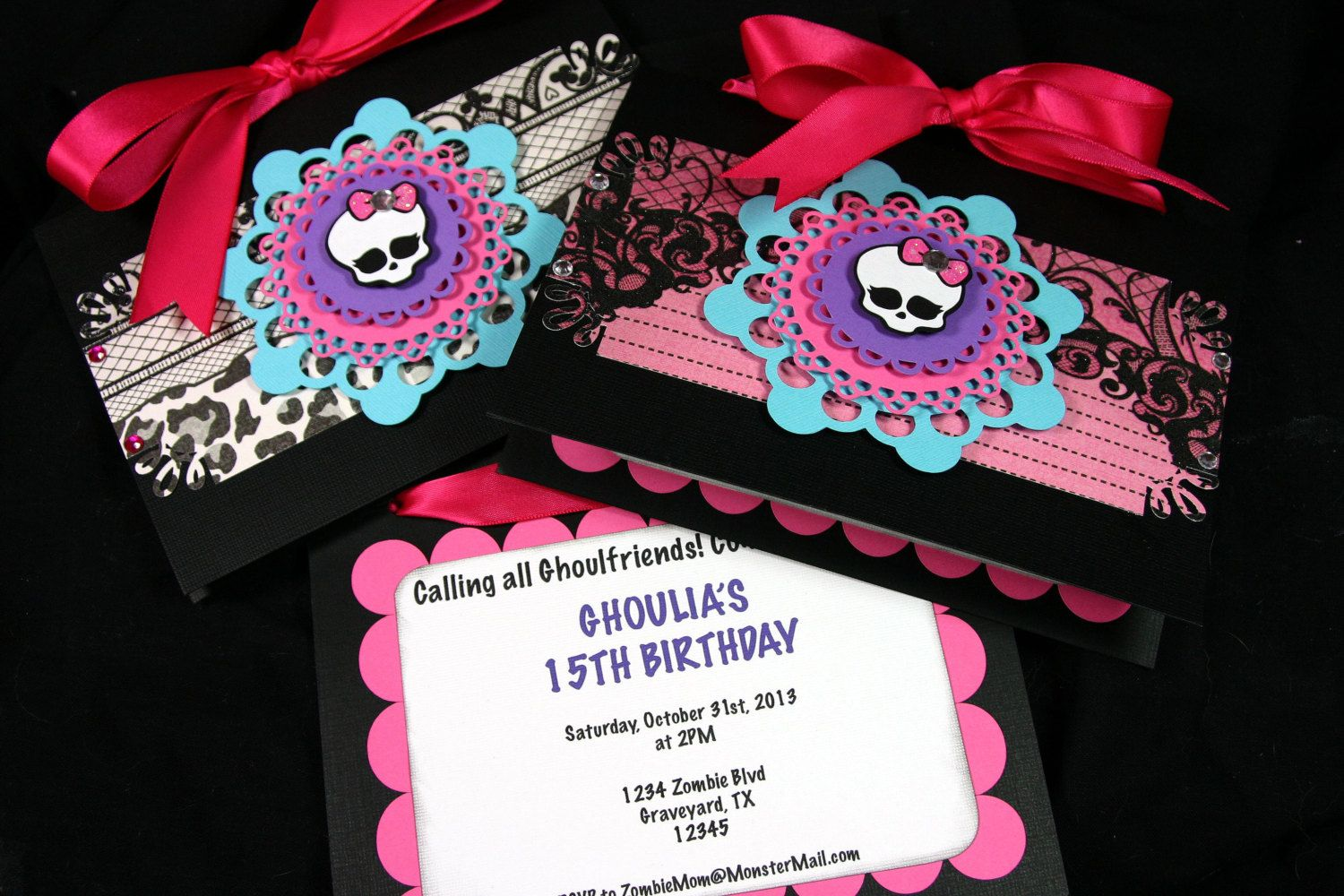 Monster High Invites Monster High Party Pinterest Monster High