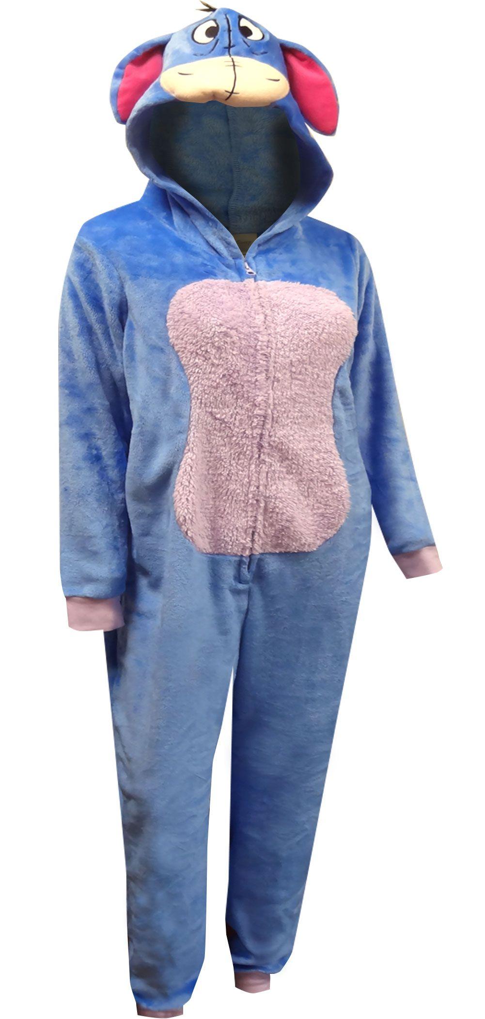 WebUndies.com Disney s Eeyore Cozy One Piece Pajama  3ec3323c3