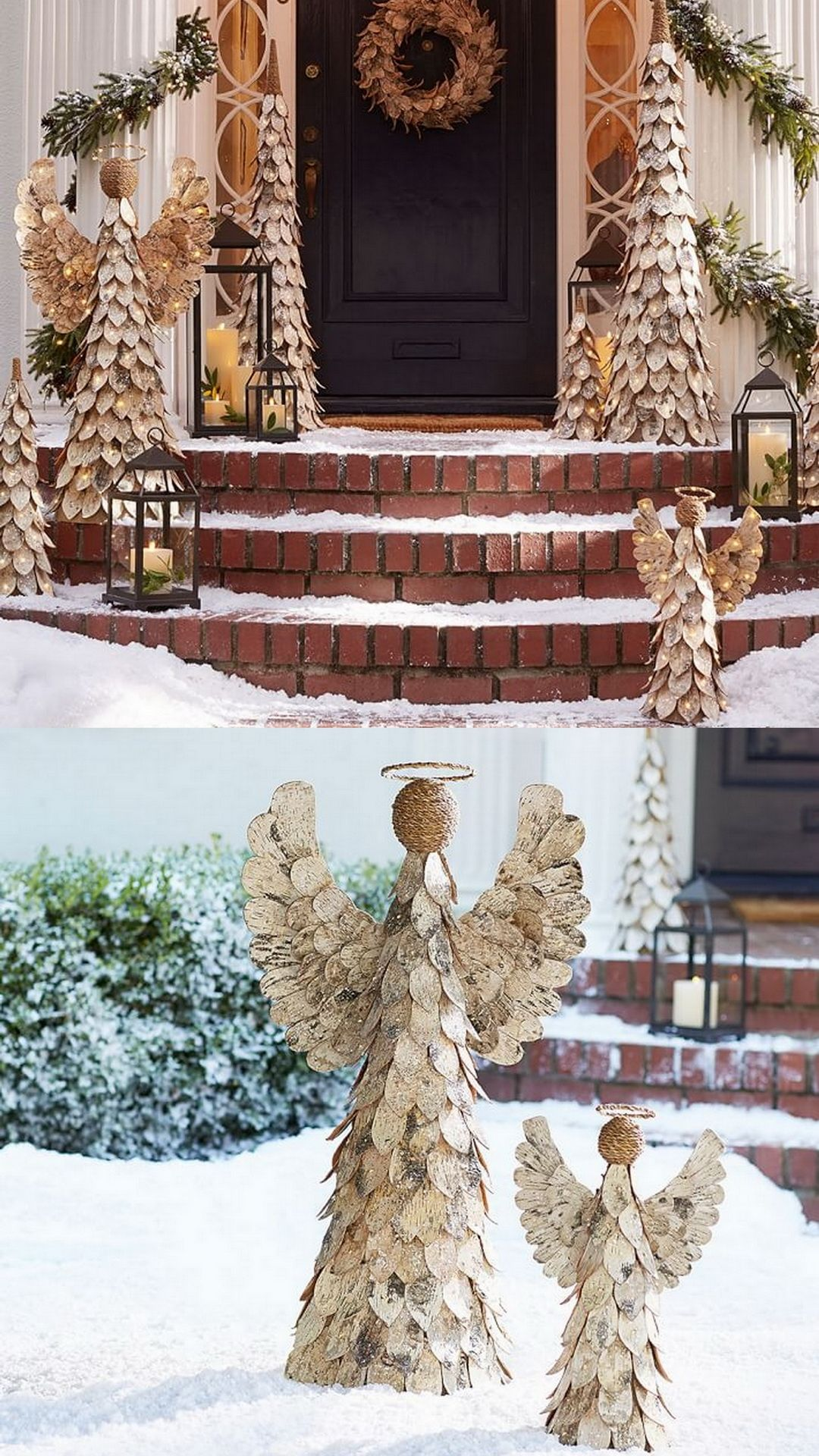 27 exceptional outdoor christmas decorations potterybarn