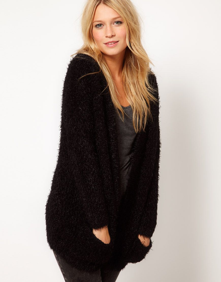 Fluffy Oversized Cardigan | Lounge | Pinterest | Fur coat ...