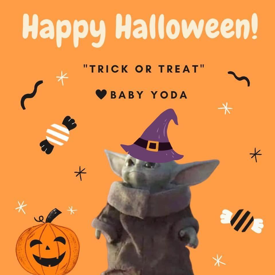 Pin By Dana Coburn On Geek Pics For The Geek In Us All Yoda Halloween Star Wars Halloween Yoda