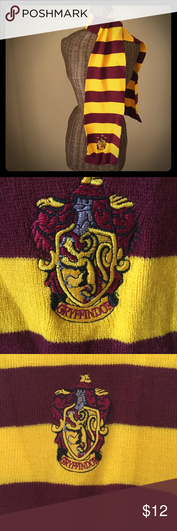 Harry Potter Gryffindor scarf Harry Potter Gryffindor scarf, excellent condition. Perfect for the Harry Potter fan! Accessories