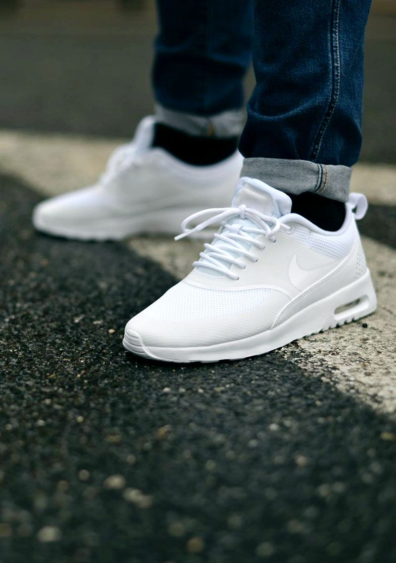 mens nike air max thea triple white nmd