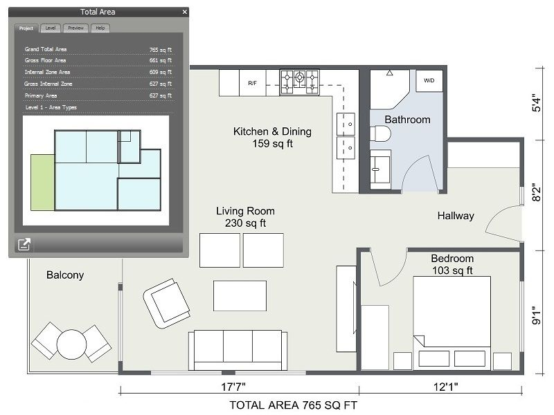 Do You Need The Total Area Of Your Floor Plan With Roomsketcher Home Designer You Can Calculate The Total Area Of You Floor Plan App Floor Plans Home Staging