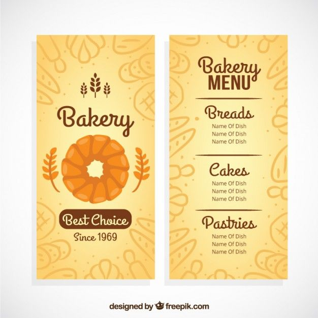 Sample Bakery Menu Template Brewery And Brew Pub Menu Template