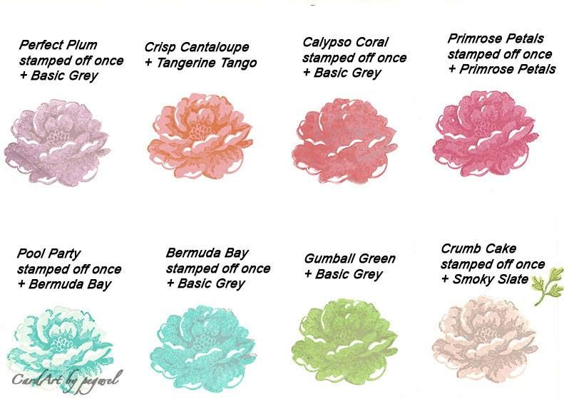 Nice color chart for Stippled Blossoms stamp set.
