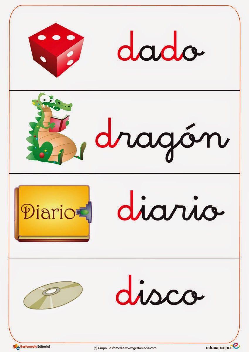 Vocabulario en imágenes. Maestra de Infantil y Primaria.: Lectoescritura