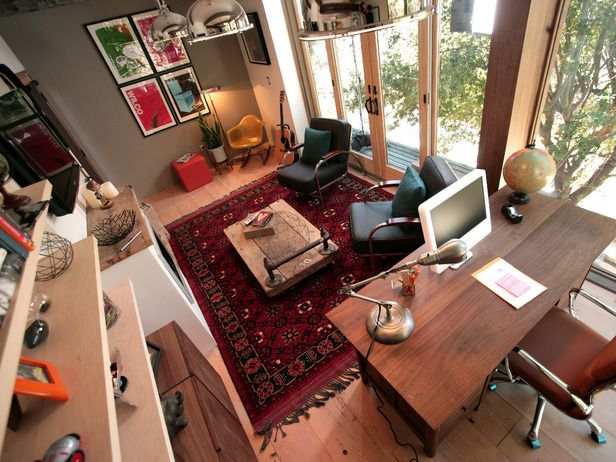 Man Cave Office Desk : Rainn wilson s home office man cave improvement diy