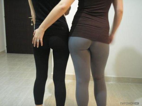 Женские задницы в обтягивающих штанах