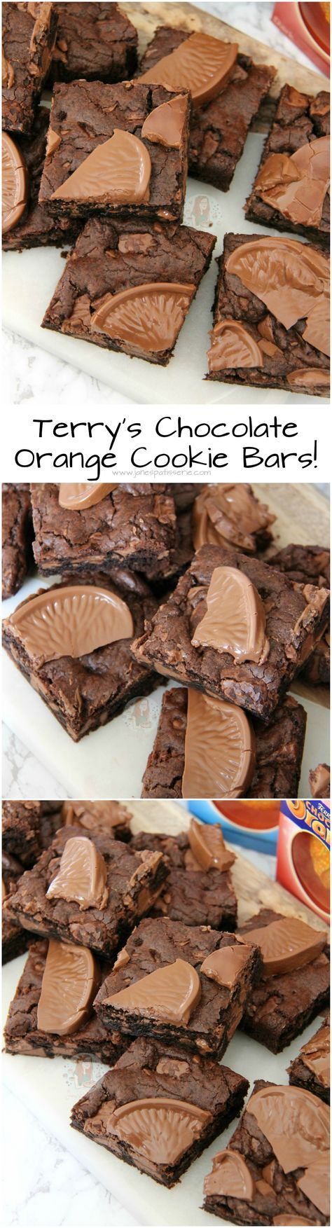 terry s chocolate orange cookie bars chewy gooey deliciously yummy cookie bars easy to bake even easier chocolate orange cookies desserts easter baking pinterest