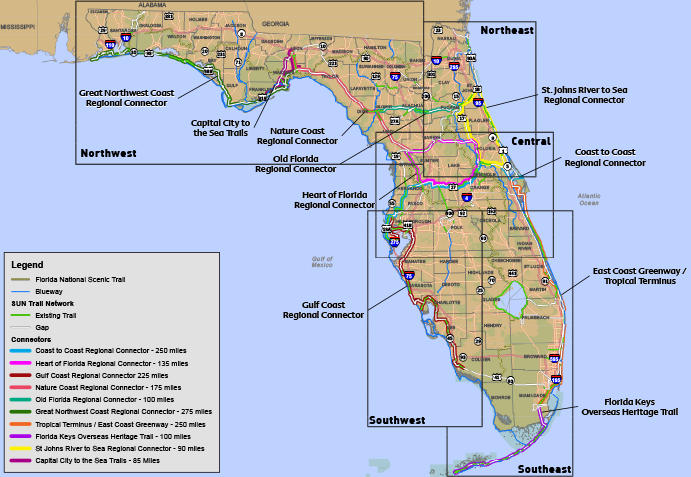 Click for full size map - Statewide TRAILS | Bike trails ...