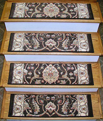 Best 136953 Rug Depot Premium Carpet Stair Treads 32 X 9 Stair Treads Brown Background Set 400 x 300
