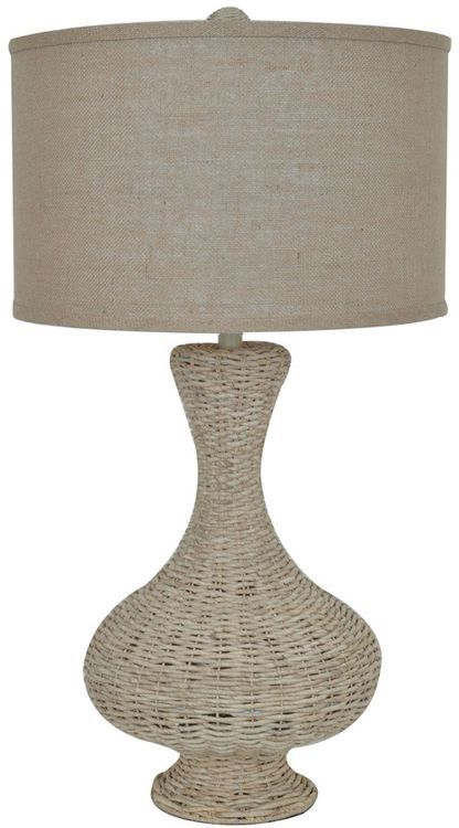 The Hannah Table Lamp Stands 34 Inches Tall And Is Hand Crafted In All Natural Rattan With A Rope Like Finish Compliment Table Lamp Lamp Crestview Collection