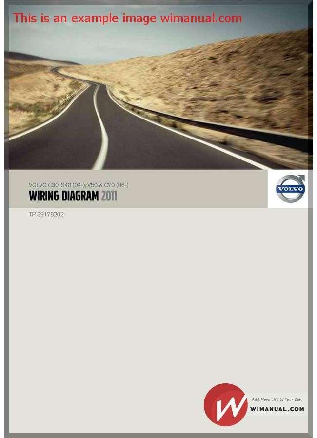 Volvo C30 S40 04 V50 C70 06 2011 Wiring Diagram