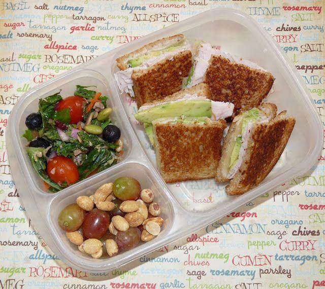 Lunch Ideas Avocado: Turkey Avocado Melt Lunch.