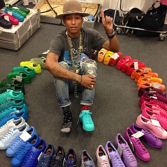 Some girls want a closet full of purses & fancy shoes, I want everything  ADIDAS. Pharrell and adidas will be releasing 50 different colorways of the  adidas ...
