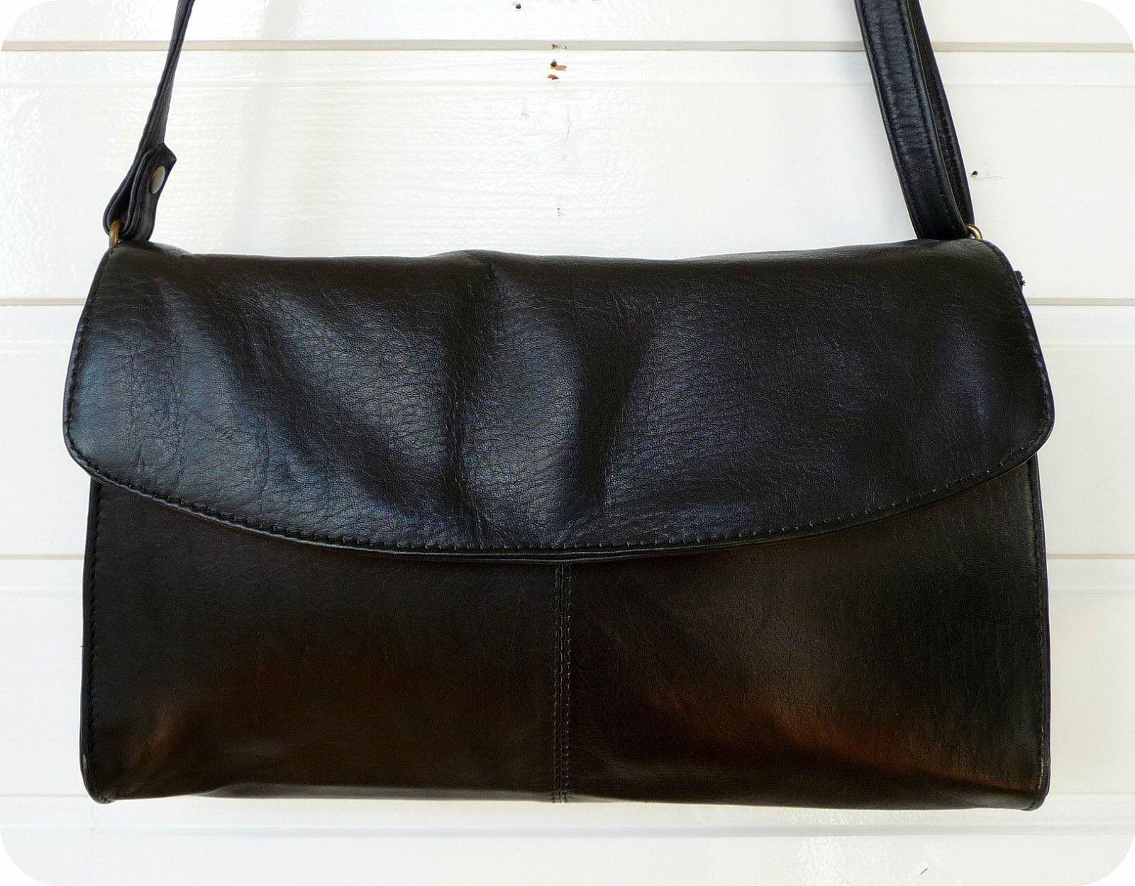 Vintage Tasche XL Clutch Bag Schultertasche Purse Umhängetasche Schwarz Party in Kleidung & Accessoires, Damentaschen | eBay