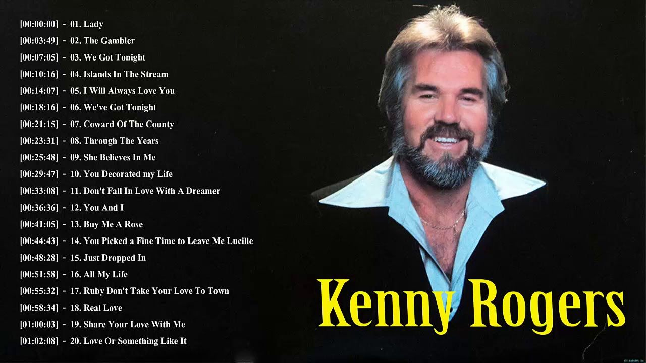 Kenny Rogers Greatest Hits Full Album The Best Of Kenny Roger 2018 Beautiful Songs Love Songs Country Songs