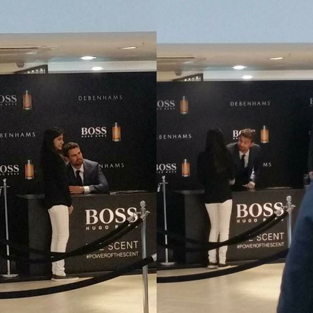 Theo James at the Hugo Boss signing in Oxford (vis geo_matei on Twitter) `  Theo  I am so jealous   #theojames #hugoboss