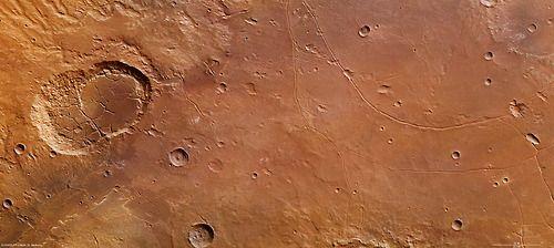 kraters op mars
