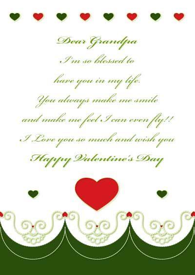 Free printable Valentines day card for Grandpa myfree – Valentine Cards.com