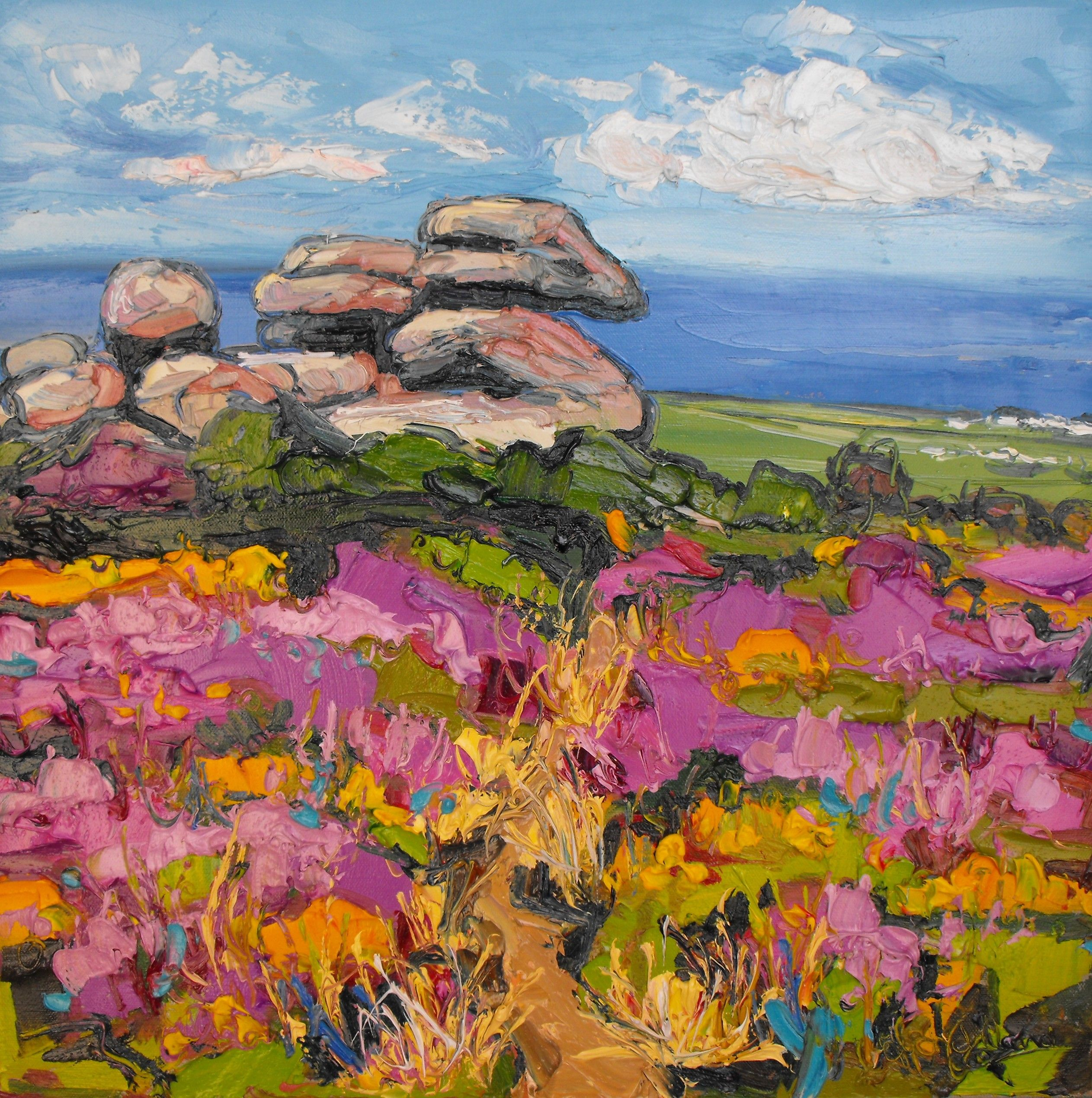 Rosewall by Judith part of Cornish Landscape exhibition | Art ...