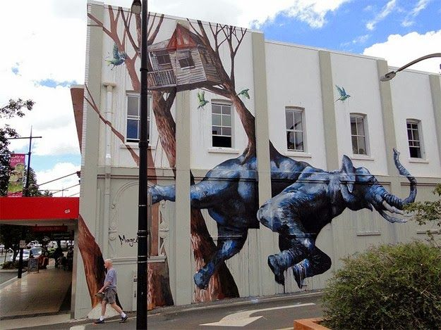 Creatively Surreal Guerilla Murals by Fintan Magee
