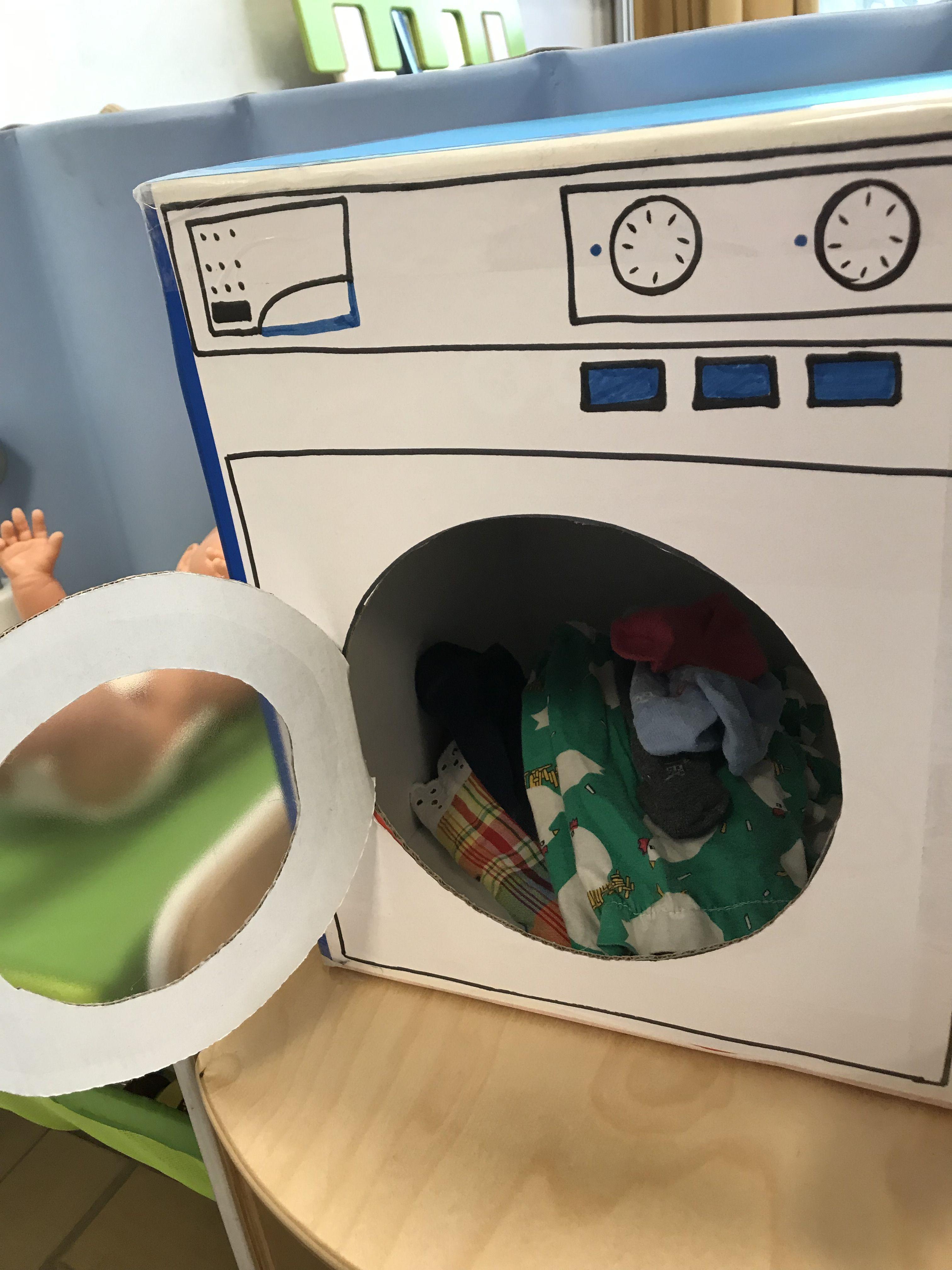 Fabriquer Un Lave Linge Avec Un Carton Machine A Laver Le Linge Machine A Laver Carton