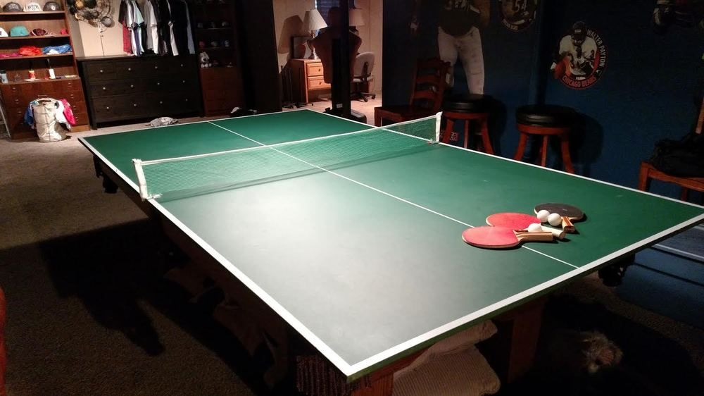 Genial Ping Pong Table Top   Sits On Top/covers Pool Table
