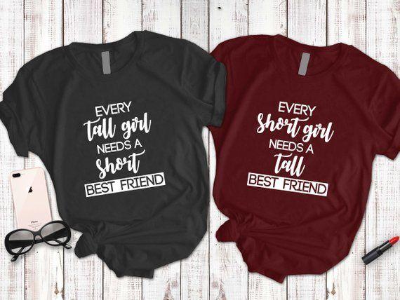 12ba43f6e Best friends shirt, Tall girl shirt, Short girl shirt, BFF matching shirt,  Besties shirt, Friends sh