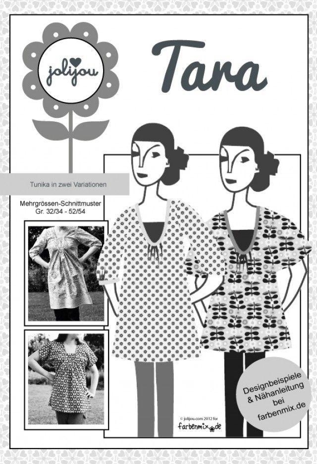 Tara, Papierschnittmuster - farbenmix Online-Shop - Schnittmuster, Anleitungen zum Nähen