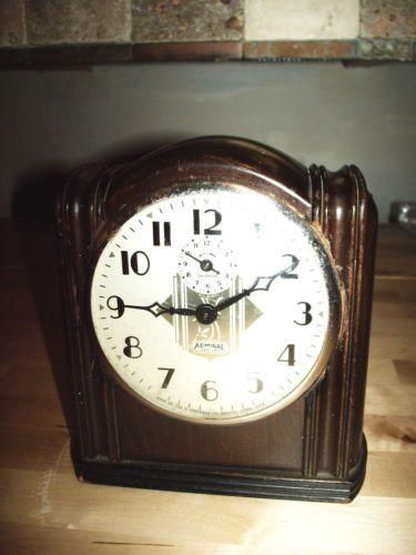 Details about Vintage Ingraham Alarm Clock Super 8 Day Art Deco