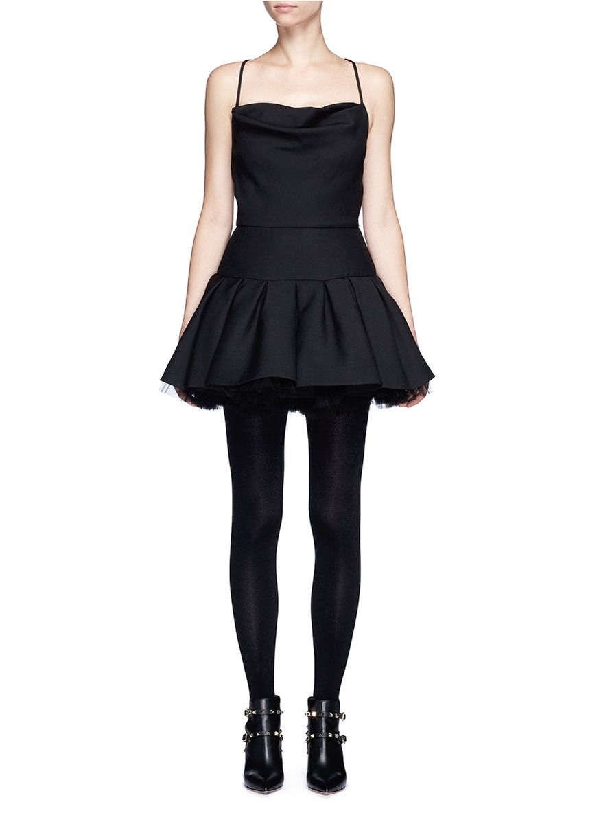 b5c433d8aa04 VALENTINO  Black Swan  tulle underskirt Crepe Couture ballet dress.   valentino  cloth  dress