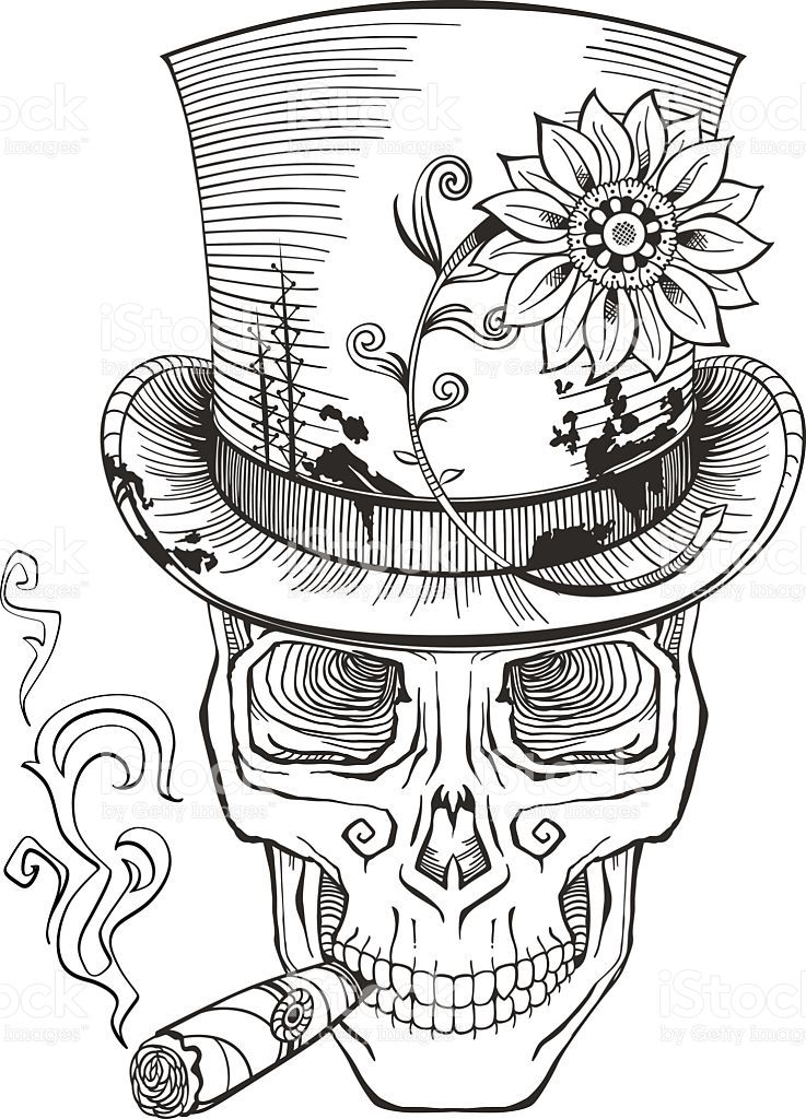 Day Of The Dead Baron Samedi Drawing Royalty Free Stock Vector