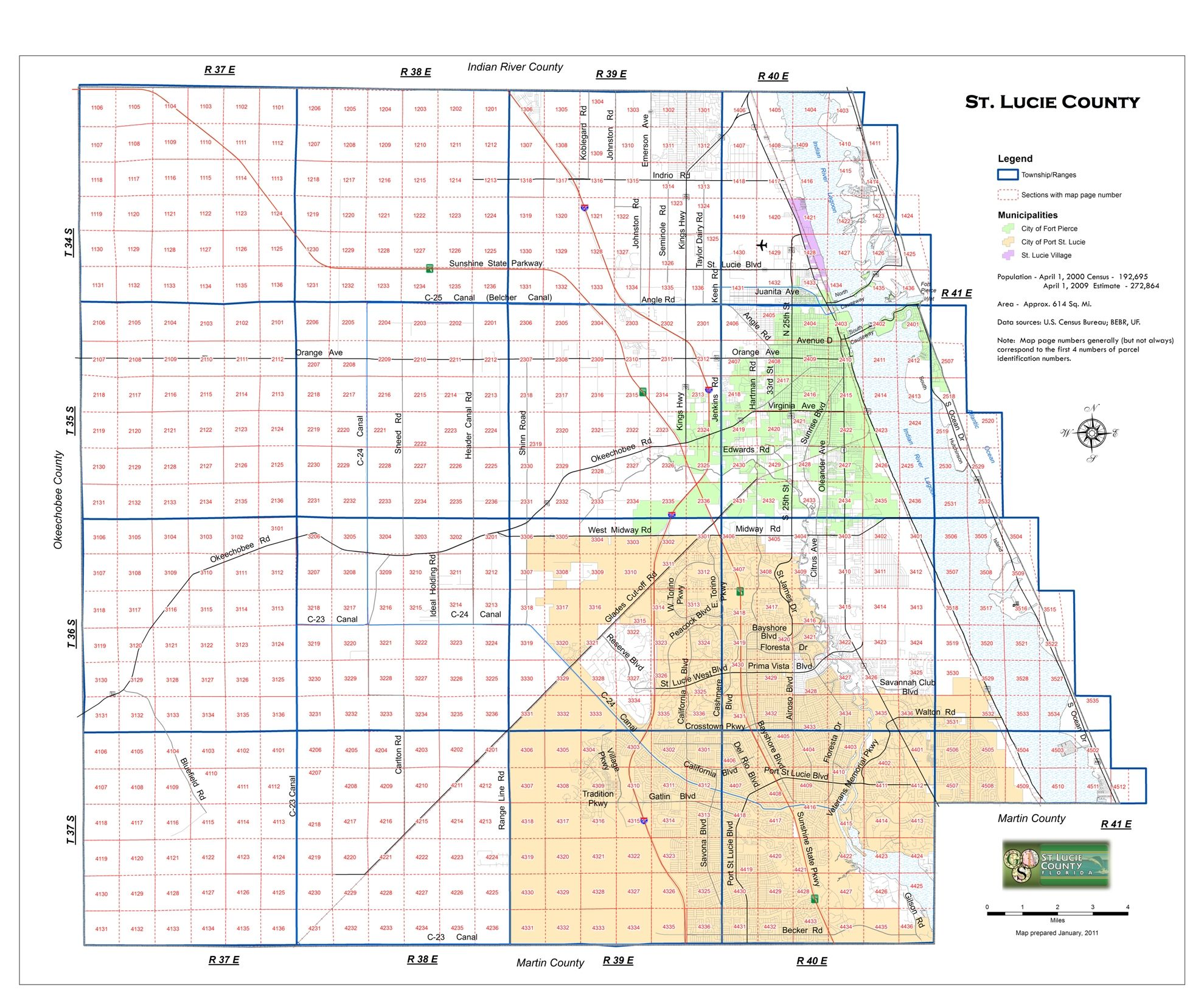 Florida Section Township Range Map section townhip maps of florida   Section Township Range   Map