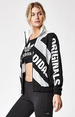 7d22b0ca01 MED-adidas-Women-039-s-BERLIN-MESH-TRACK-JACKET-LEGGINGS-amp-SPORTS-BRA -White-Black