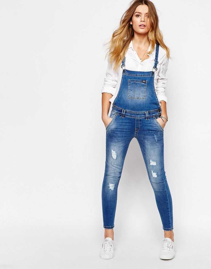 49ffe2a2 Image 4 - Superdry - Emmins - Salopette coupe skinny Skinny Dungarees, Denim  Dungarees,