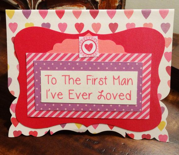 Daughter to Father Card Valentine card for Dad Little Girl to