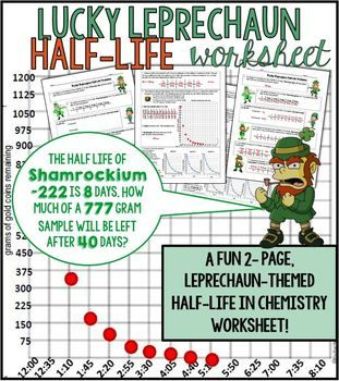 Half Life Problems Worksheet Lucky Leprechaun Themed Chemistry