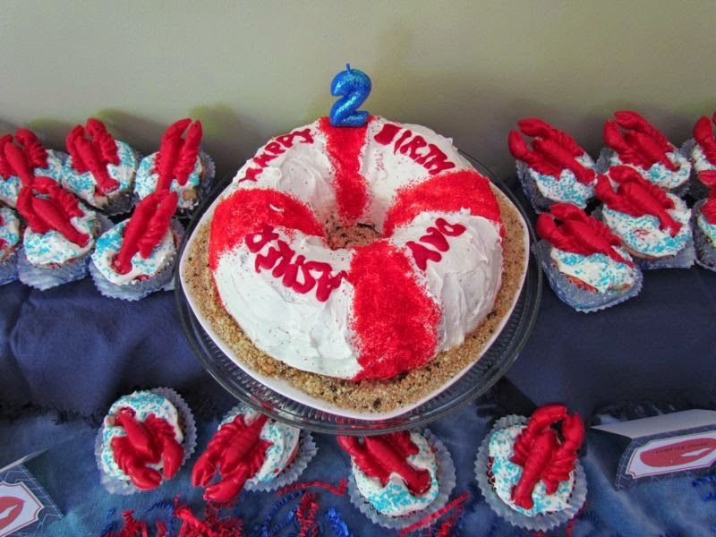 Studio M Creations Design The Maine Event 2nd Birthday Party Nautical Cake
