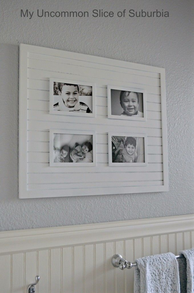 picture frame transformation for bathroom