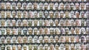 Diferentes expresiones faciales de los soldados de terracota.