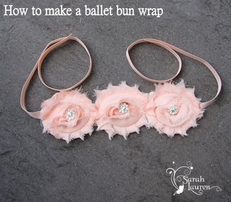 Ballet Bun Wrap with Shabby Flowers | Hair accessories & fabric ...