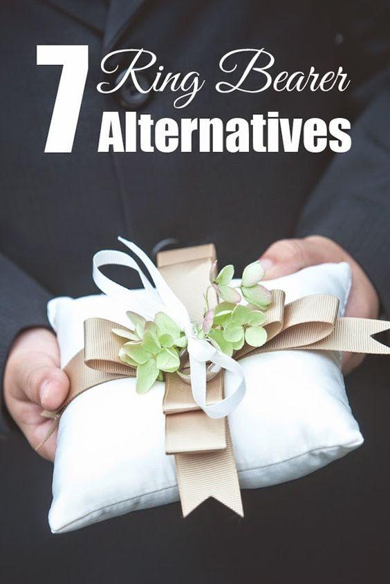 7 Wedding Ring Bearer Pillow Alternatives   Wedding ring bearers ...