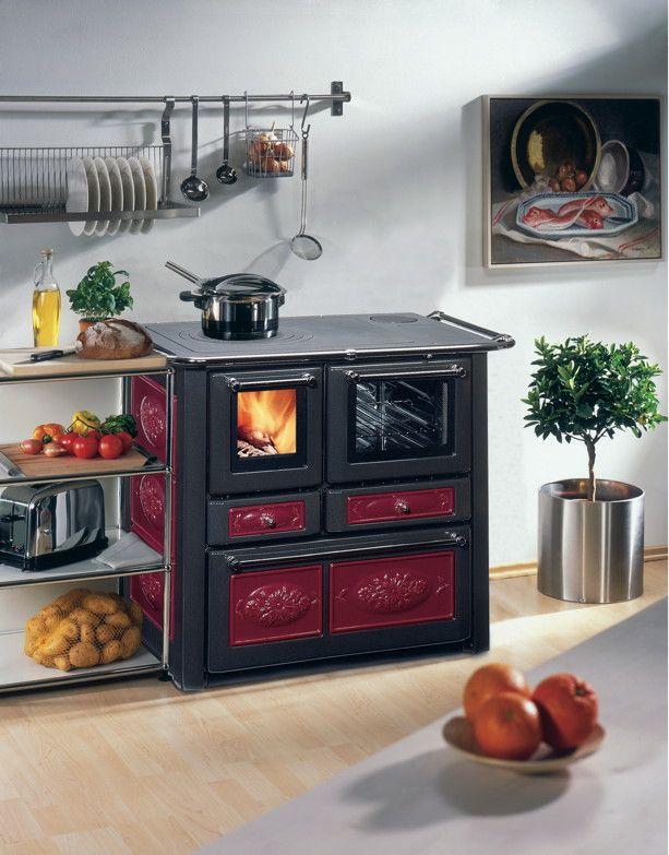 Küchen-Ofen WAMSLER Voll-Herd Westminster K185 Holzofen Kochplatte ...